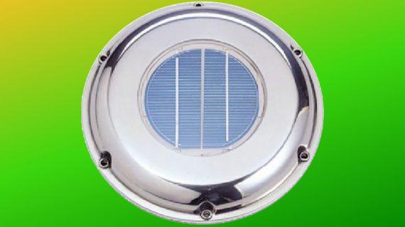 Siltumnīcu ventilators uz saules baterijām